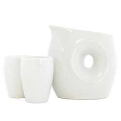 13178 ceramic sake set white