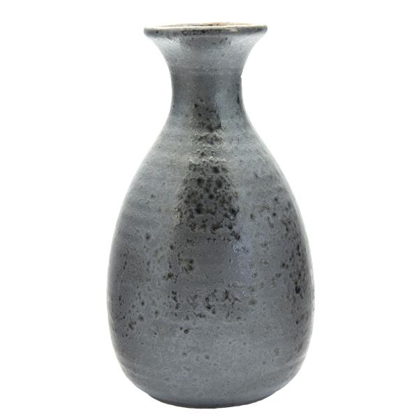 13121 ceramic sake server black gold mottled pattern