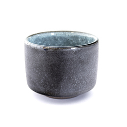 13103 ceramic sake ochoko cup black blue