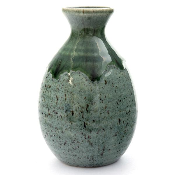13248 ceramic sake server   mint green  mottled pattern