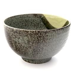 13220 ceramic medium rice bowl   mottled green