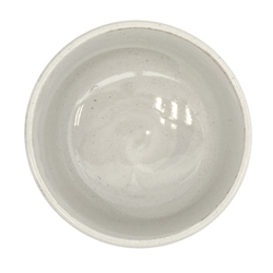 13175 ceramic matcha bowl grey stripe pattern inside