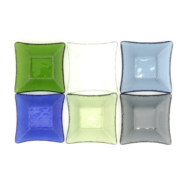 13110 glass small serving plate set multicolour 2