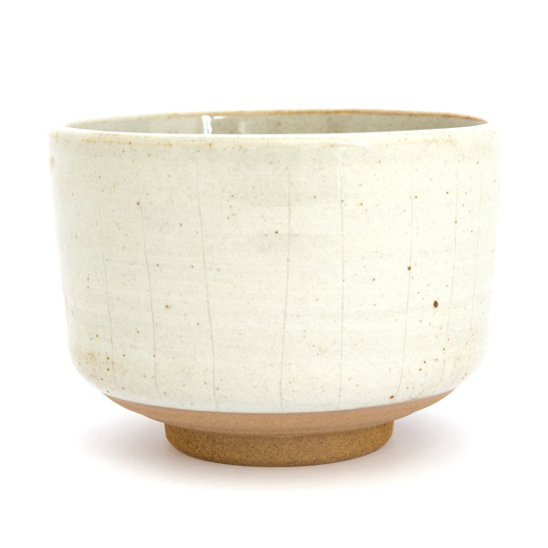 13175 ceramic matcha bowl grey stripe pattern