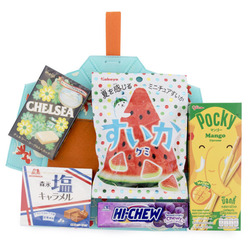 13294 summer yukata snack set  blue   orange