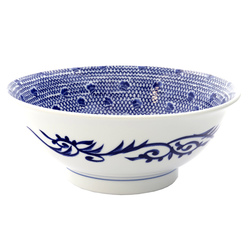 13265 ceramic noodle bowl traditional pattern