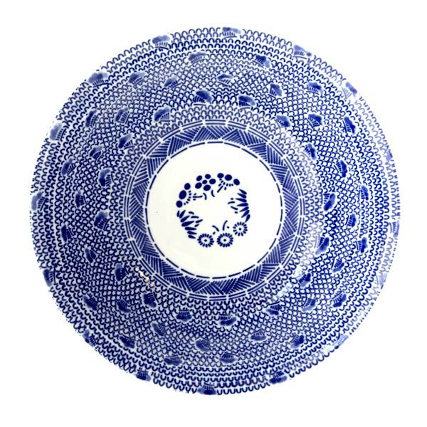 13265 ceramic noodle bowl traditional pattern 2