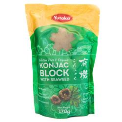 13393 yutaka konjac block with seaweed