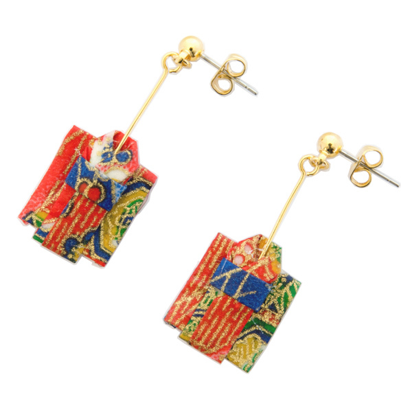 13506 origami kimono earrings