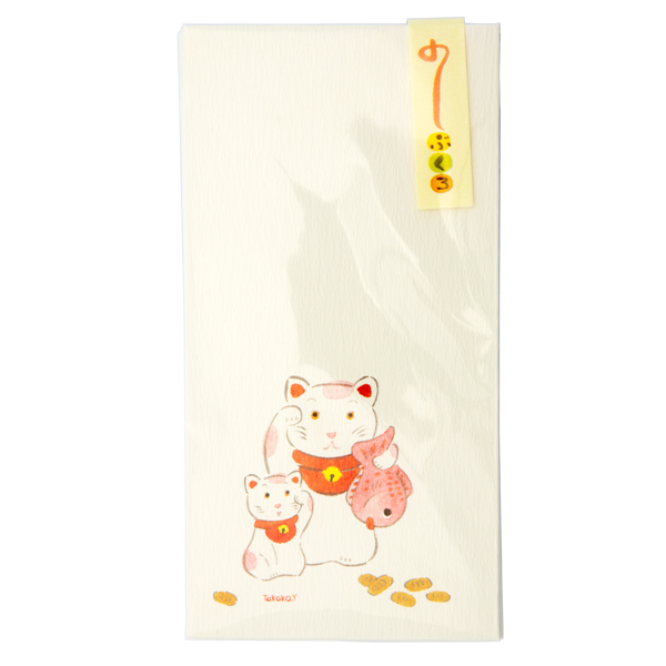 13527 japanese gift envelopes   lucky cats