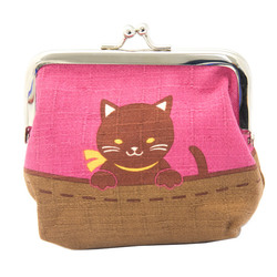 13556 cat coin purse  pink  cheeky siblings