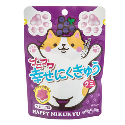 13514 senjyakuame nikukyu paw shaped grape gummy candy