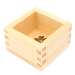 13559 hinoki cedar wooden masu cup   natural  cherry blossom
