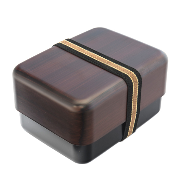 japan centre bento lunch box chestnut brown wood pattern bento boxes. Black Bedroom Furniture Sets. Home Design Ideas