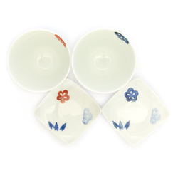 13662 ceramic cup and saucer set for two   2