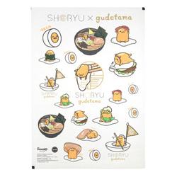 13837 gudetama sticker sheet