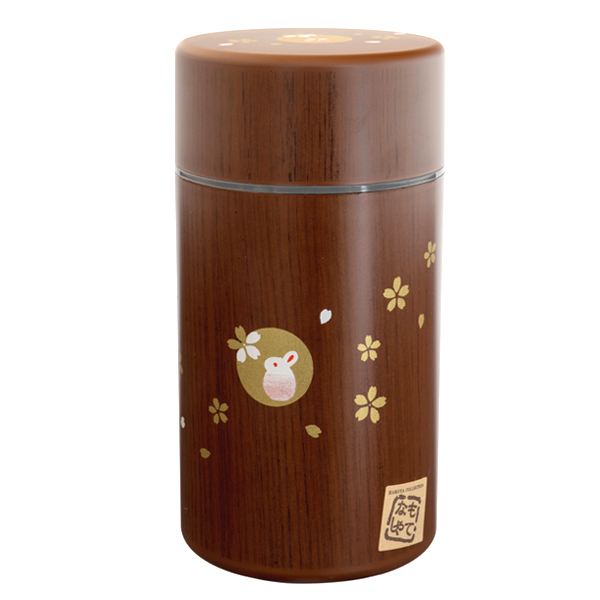 13859 tea canister  usagi and cherry blossom