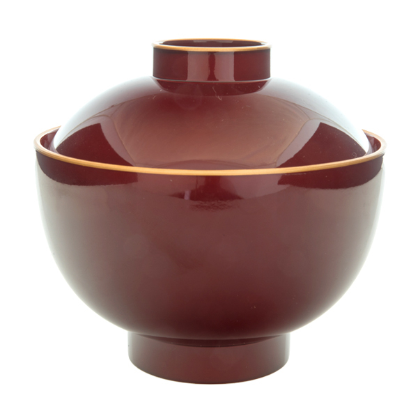 Miso soup bowls with lids