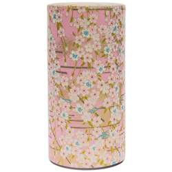 13873 tea canister   pink  cherry blossom