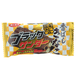 13899 yuraku black thunder chocolate cookie bar   kinako