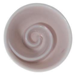 13965 ceramic sake ochoko cup pink swirl