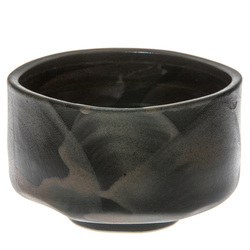 14004 ceramic matcha bowl   dark green  brown