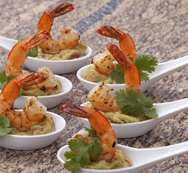 Prawn and wasabi guacamole canap s recipe japan centre for Canape receipes