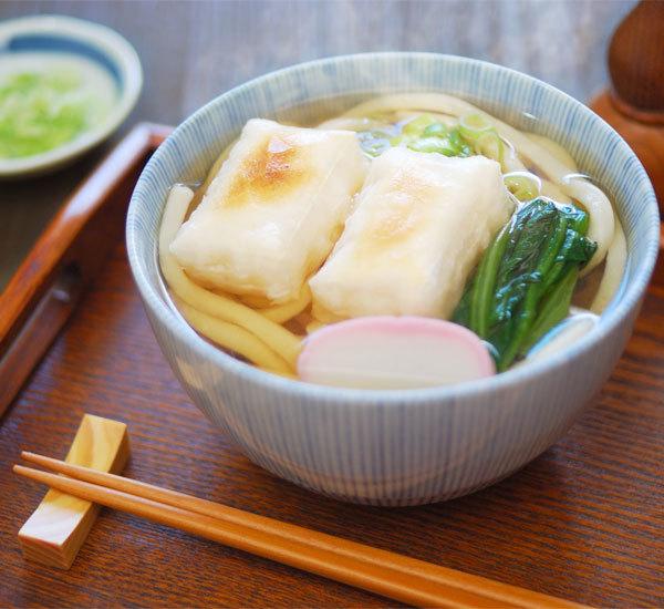 Chikara Udon with Mochi Cakes