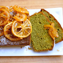 Matcha drizzle cake