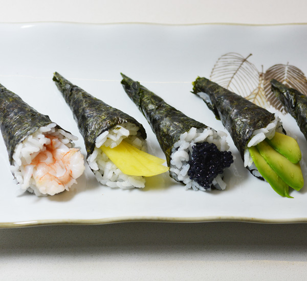 Mini temaki rolls canap style recipe japan centre for Canape meaning in english