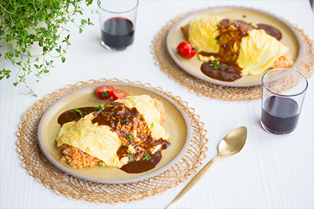 Omurice chicken fried rice wrapped in an omelette recipe japan centre our recipes forumfinder Image collections