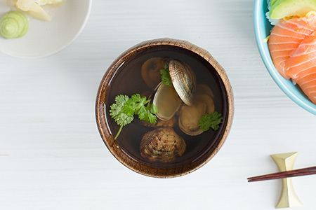 Clam soup with lime and coriander recipe japan centre jc fresh indivisual 3 calm soup 450 300 forumfinder Image collections