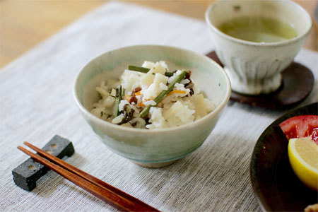 Boiled rice with sansai mountain vegetables recipe japan centre our recipes rice forumfinder Image collections