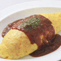 Beef omurice