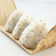 Photo omusubi mixed onigiri rice ball