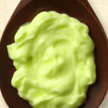 Photo wasabi and avocado mayonnaise