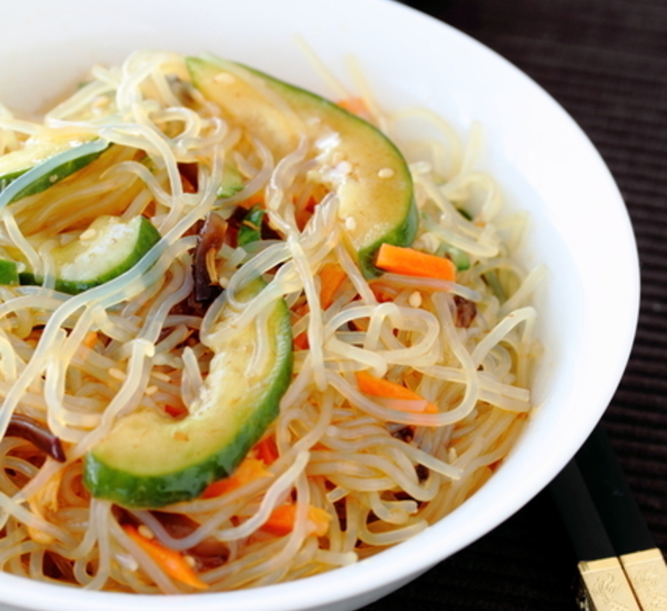 Spicy Shirataki Noodle Salad