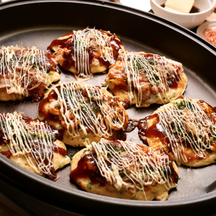 Photo okonomiyaki burgers